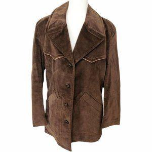 VTG 70s McGregor Mens Velour Brown Jacket Blazer